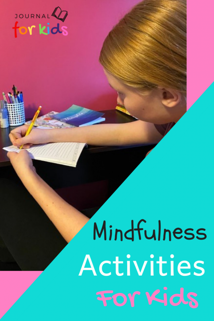 teen girl journaling - mindfulness activities for kids