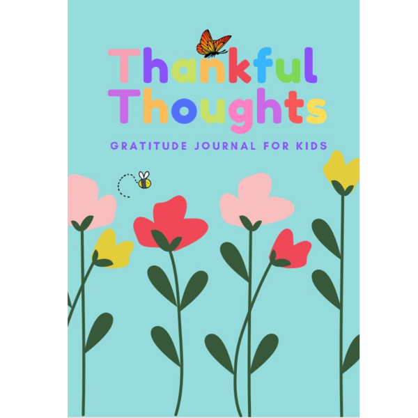 thankful thoughts gratitude journal flower cover