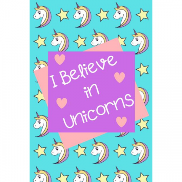 Unicorn Lined Journal Cover