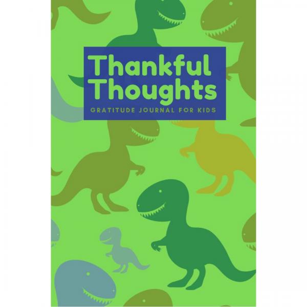 dinosaur gratitude journal cover