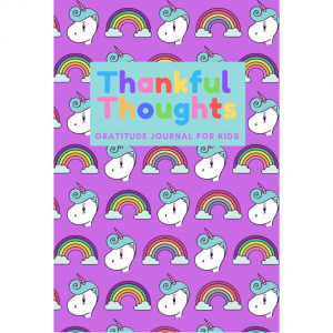 unicorn gratitude journal cover