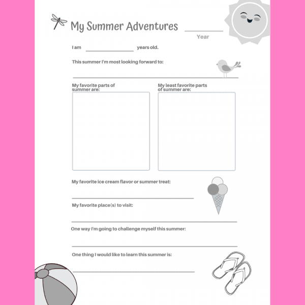 My Summer at Home Guided Journal Interior