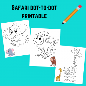safari dot to dot printable