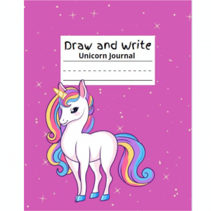 draw and write unicorn journal