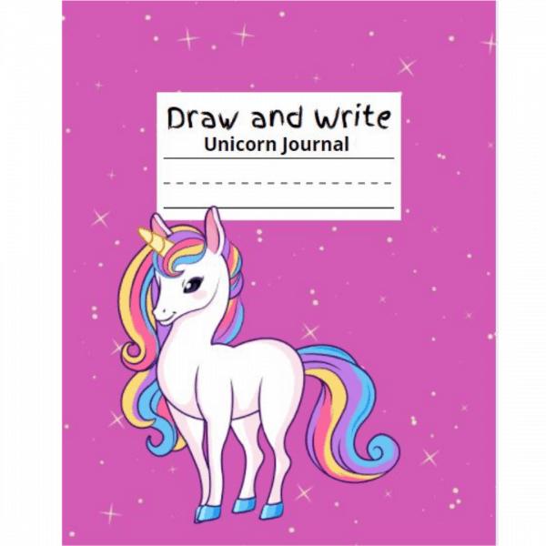 draw and write unicorn journal