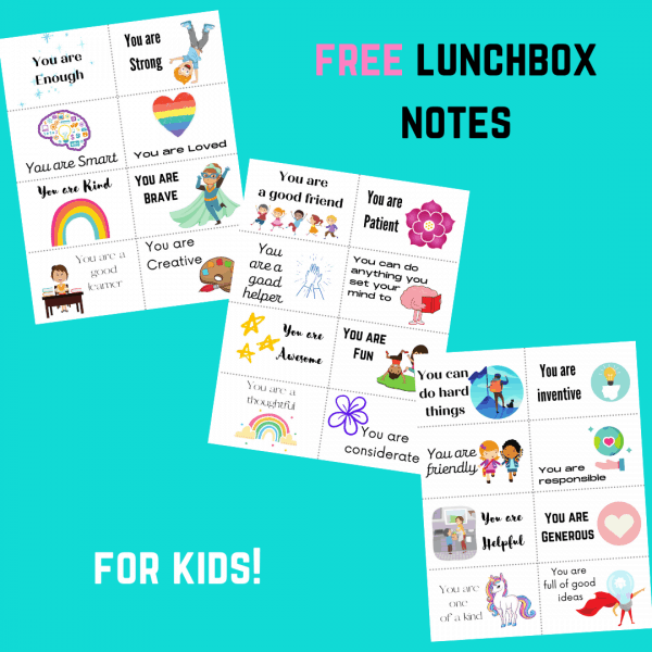 free lunchbox notes for kids