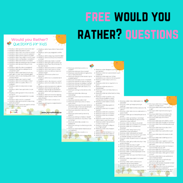 free would you rather questions printable pdf